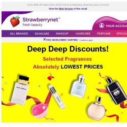 [StrawberryNet] Shop the Lowest-Priced Fragrances Starting From US$15!