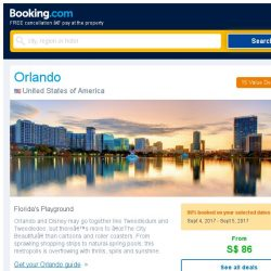 [Booking.com] Deals in Orlando from S$ 86 for August