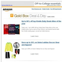 [Amazon] Up to 80% off top Kindle Daily Deals titles of...