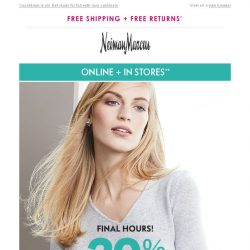 [Neiman Marcus] Hours left: 20% off cashmere