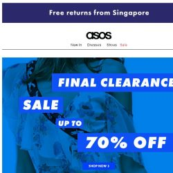 [ASOS] Up to 70% off – final clearance