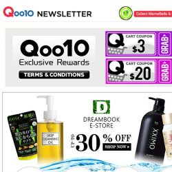 [Qoo10] DreamBook E-Store Up To 30% Off! Timeless Truth Bemliese Mask Series at $6.90 + FREE Shipping!