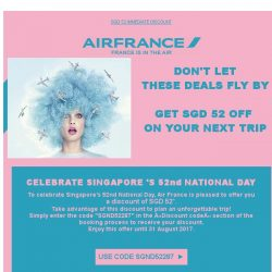 [AIRFRANCE] A special discount for National Day!