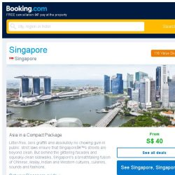 [Booking.com] Deals in Singapore from S$ 40 for August
