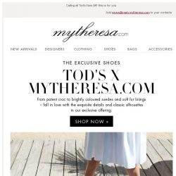 [mytheresa] Tod's X mytheresa.com: the exclusive shoes + free shipping