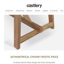[Castlery] Classic butcher block dining table