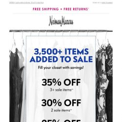 [Neiman Marcus] Final hours to take 35% off sale prices!