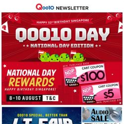 [Qoo10] [Last Day..] Qoo10 Day National Day Edition ~ $100 off Home Appliances~ Build An Affordable Home!