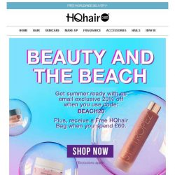 [HQhair] Don't miss 20% off + Free HQhair Bag