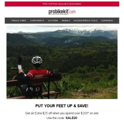 [probikekit] Get an EXTRA $25 off Site...