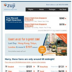 [Zuji] Count on us for a great sale! Hong Kong & more fr $101.