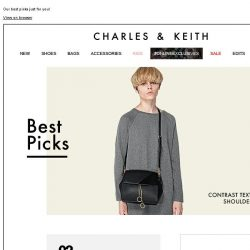 [Charles & Keith] CHARLES & KEITH | Our Best Picks Just For You!