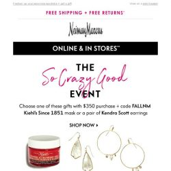 [Neiman Marcus] Choose your free gift!