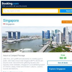 [Booking.com] Deals in Singapore from S$ 35 for August
