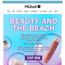 [HQhair] 20% off + Free Beauty Gift | Beach Beauty