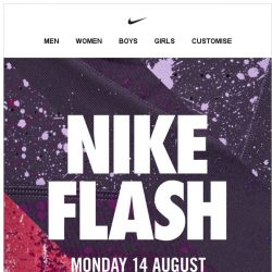[Nike] Nike Flash. Up to 40% Off. Get Ready!