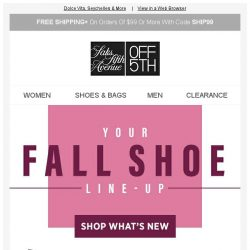 [Saks OFF 5th] Up to 60% OFF fall boots, sneakers & MORE!
