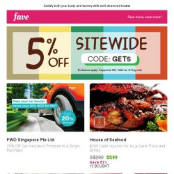 [Fave] Sunday Delights: Catch Fave's Sitewide Sale!