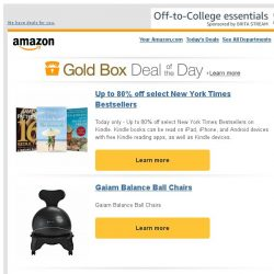 [Amazon] Up to 80% off select New York Times Bestsellers