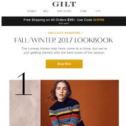 [Gilt] Fall/Winter 2017 Lookbook: 10 Cool Pairings Worth Rocking