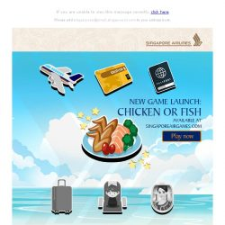 [Singapore Airlines] Just released on SingaporeAirGames: Chicken Or Fish