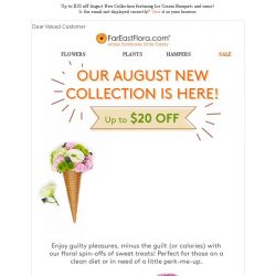 [FarEastFlora] Up to $20 off all August New Arrivals - Ice Cream Bouquets, Floral Cupcakes and more!
