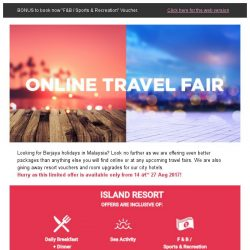 [Berjaya Hotels & Resorts EDm] Online Travel Fair - Exclusive for you