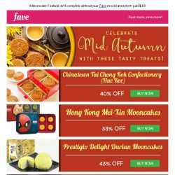 [Fave] Mooncake Mania at Fave - Grab yours today!