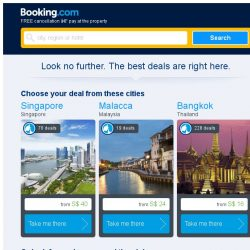[Booking.com] Singapore and Malacca – great last-minute deals from S$ 16