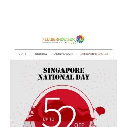 [Floweradvisor] The Celebration is Near the Edge. Special National's Discount Ends Tonight!