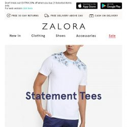 [Zalora] Most wanted: Statement tees for everyday occasions!
