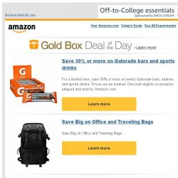 [Amazon] Save 30% or more on Gatorade bars and sports...