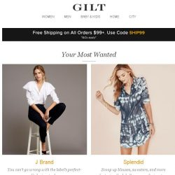 [Gilt] J Brand, Splendid, Cosabella and More Start Today at 8am ET