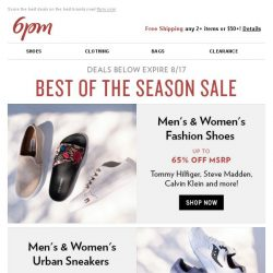 [6pm] Best of the Season Sale is on!