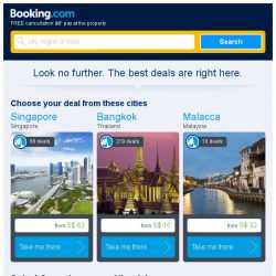 [Booking.com] Singapore and Bangkok – great last-minute deals from S$ 16