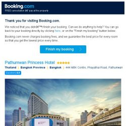 [Booking.com] Pathumwan Princess Hotel – are you still interested in staying?