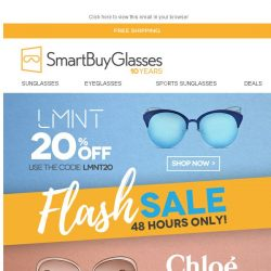 [SmartBuyGlasses] 20% Off LMNT / Up to 70% off Chloe: Take your pick 😍
