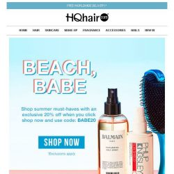 [HQhair] 20% off Summer Must-Haves | Last Chance