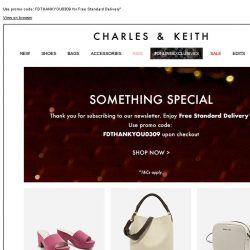 [Charles & Keith] Something Special | Just for You