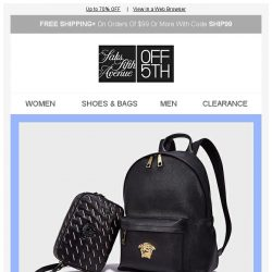[Saks OFF 5th] World of Versace Deals for Him & Her