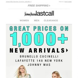 [Last Call] Save BIG on 1,000s of new arrivals