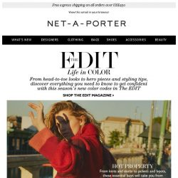 [NET-A-PORTER] How to wear color for FW17 in The EDIT