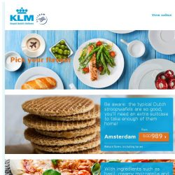 [KLM] Like to try a new taste?