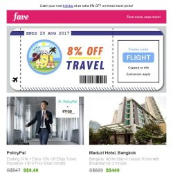 [Fave] There, your next trip just got cheaper!