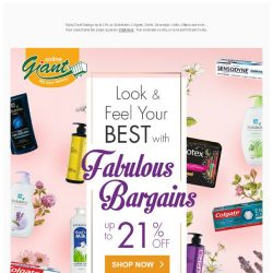 [Giant] 👂Psst! Look and Feel Your Best ✨ with Fabulous Bargains ✔up to 21% for 💋 Health & Beauty Products!