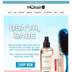 [HQhair] 20% off + Free HQhair Bag | Beach Babe