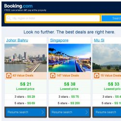 [Booking.com] Johor Bahru and Singapore – great last-minute deals from S$ 21