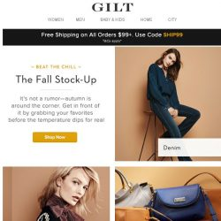 [Gilt] Shop Our Fall Stock-Up (because being cold is never cool!)