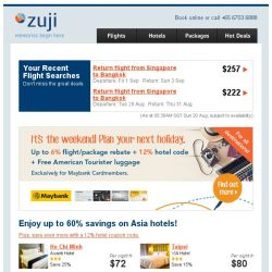 [Zuji] Up to 60% off Asia hotels + 12% hotel code!