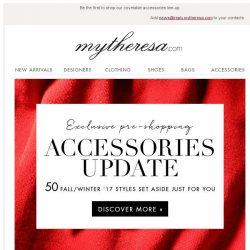 [mytheresa] Exclusive pre-shopping: F/W17 accessories update + free shipping